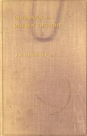 Cover of: Modernism and modern thought | Joseph M. Bampton