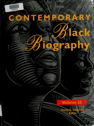 Cover of: Contemporary Black biography | David G. Oblender, editor.