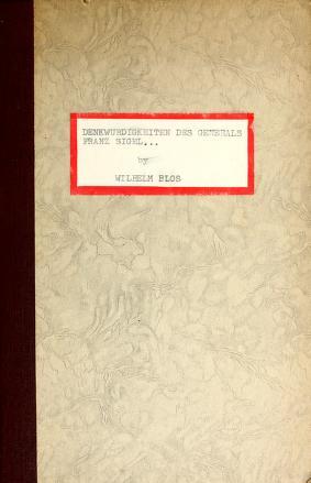 Cover of: Denkwürdigkeiten des Generals Franz Sigel aus den Jahren 1848 und 1849   Franz Sigel