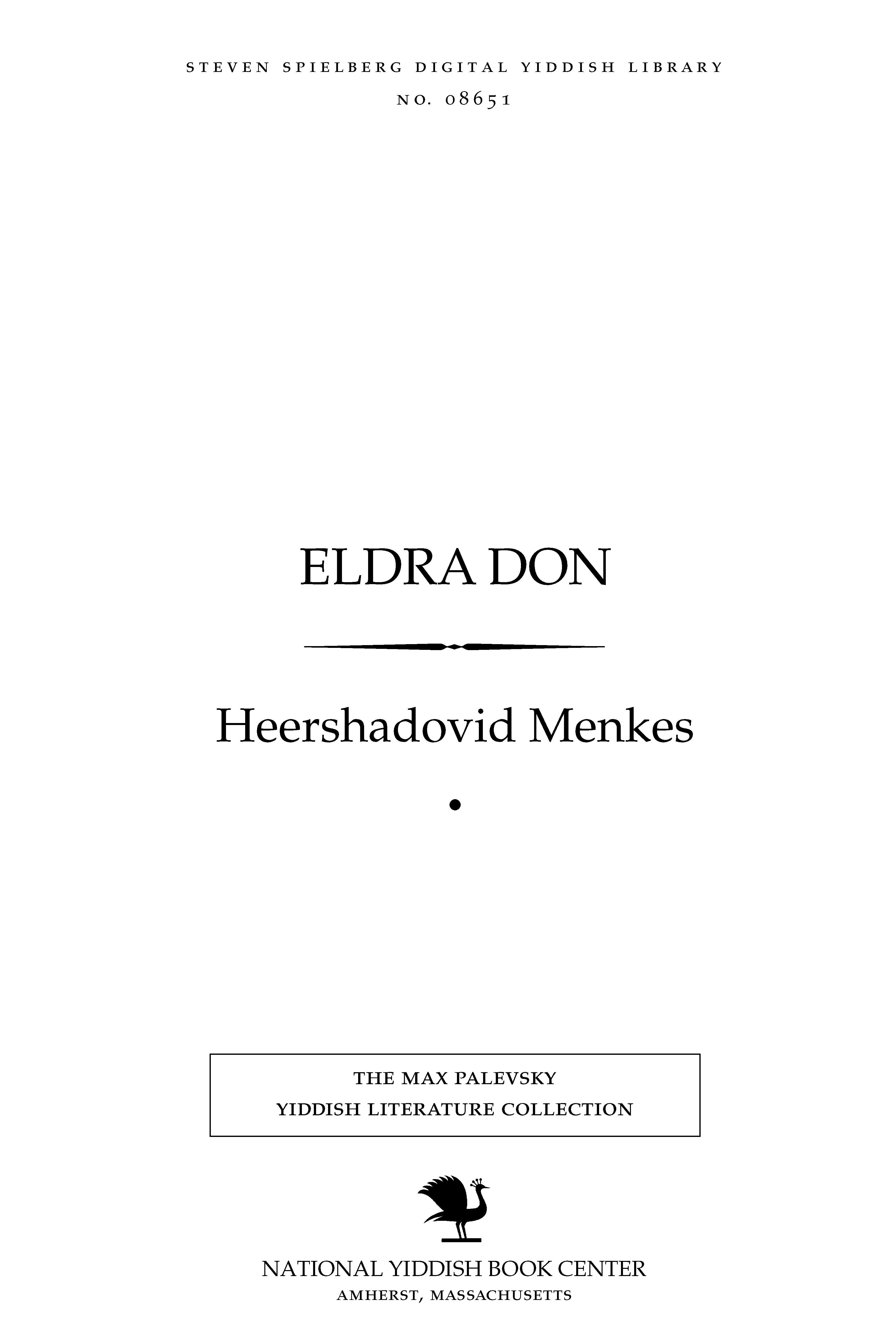 Cover of: Eldra don